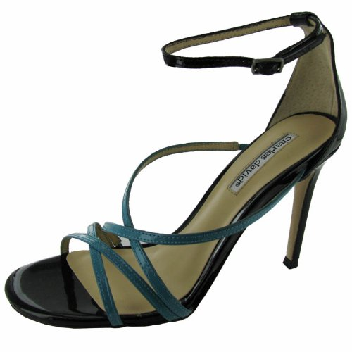 David Charles Leather Pumps Patent - CHARLES DAVID Womens 'Morgan' Heeled Sandal Shoe, Turquoise/Black, US 5.5