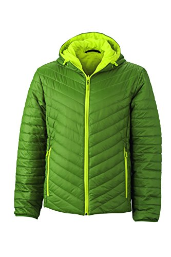 Lightweight Imbottitura Jacket Jungle green Giacca In Con Ovatta acid yellow Sorona® Men's Reversibile Leggera Dupont™ q1P1zt