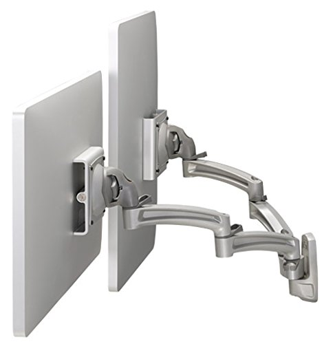 Chief K2 Wall Mount Dual Display Dual 2l Arms Stand Silver Chief Multiple Monitor