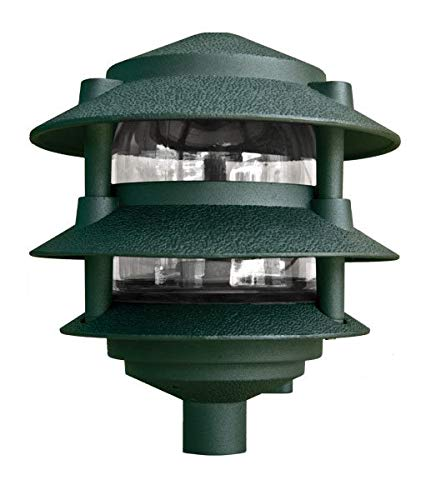 (Dabmar Lighting D5000-G Pagoda Fixture 3 Tier Incand 120V Light, Green Finish )