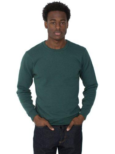american-apparel-mens-flex-fleece-crew-neck-pullover-drop-shoulder-sweatshirt-forest-small