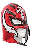Rey Mysterio Lucha Libre Wrestling Mask (pro-fit) Costume Wear- Red Black