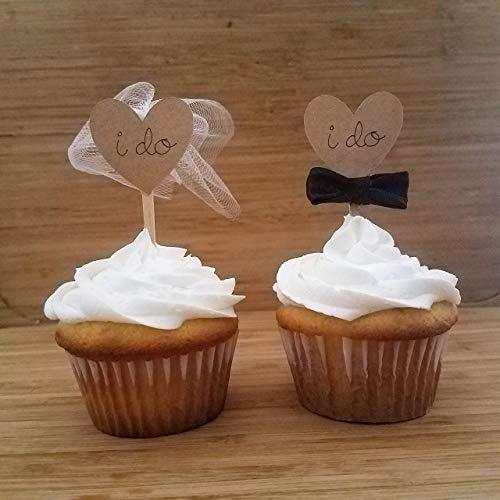 Amazon Wedding Cupcake Toppers Bride And Groom I Do Wedding