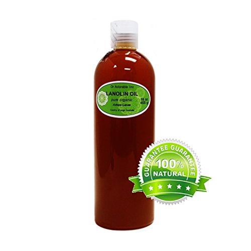 Lanolin Massage Oil - Organic Pure Carrier Oils Cold Pressed 16 Oz/1 Pint (Lanolin Oil)