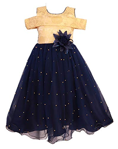 5f0a3fcd213c0 My Lil Princess Baby Girls Birthday Frock Dress_Golden Motii Blue_3-4 Years