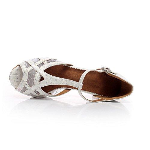 with Salsa Frauen Tango Shoes Ballroom Toe Dance Dance Women's Tango Peep mit 3 Salsa Sandals Latin Latin 3 Ballroom 3 Schuhe Peep toe Sandalen Misu Praxis Misu Practice 3 YXWdFwq4F