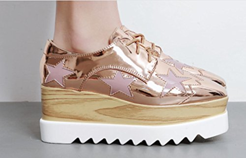Suole Spesso scarpa casuali rose 39 gold XDGG'S singola femminile Shoes 2017 pendio Loose scarpe donne fgAa5qUq