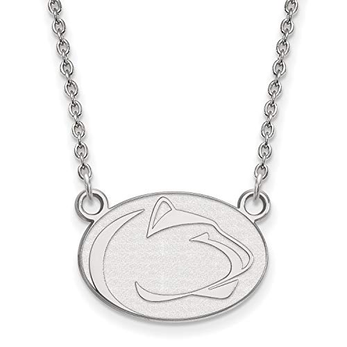 14k White Gold Penn State University Nittany Lions Mascot Pendant Necklace 14x18mm 18 Inches