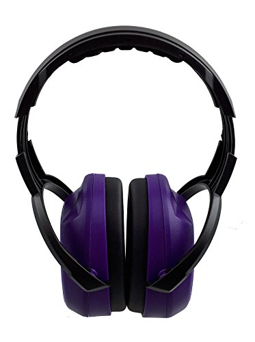 Instapark EM-30 Over-the-Head Electrical Insulated Hearing Protection / Noise Reduction Safety Earmuffs, NRR (Noise Reduction Rating) 25 dB, One Size Fits Most (Purple)