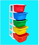 ShopyBucket Drawer ( 5 compartments set) multi purpose storage organizer Box for Toy & Clothes