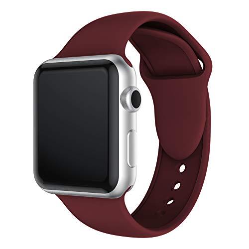 QingZhou® Correa de Repuesto de Silicona para Apple Watch, 38 mm/40 mm/42 mm/44 mm, Compatible con Apple Watch Series 1, 2,...