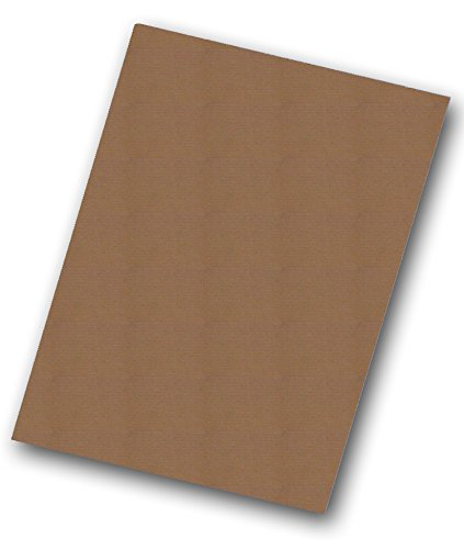 Pack of 25 Kraft Corrugated E-Flute Sheets (32x40in) by Flipside