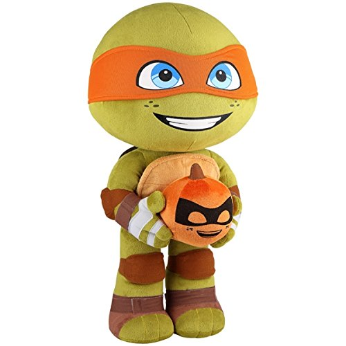 22 Inch Teenage Mutant Ninja Turtles Michelangelo with Pumpkin Halloween Plush Freestanding Greeter