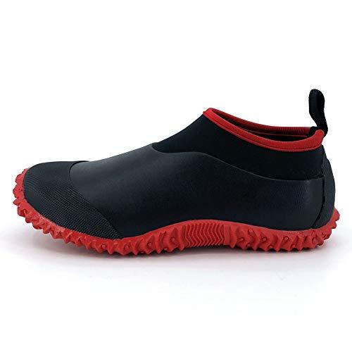 SYLPHID Unisex Waterproof Garden Shoes Womens Neoprene Rain Boots Mens Car Wash Footwear (7.5 M US Women/6 M US Men, Red)