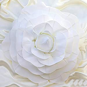 """Efavormart 2 Pack 20"""" 3D Craft Rose White Real Feel Foam Rose for DIY Wedding Bouquets Arrangements Party Home Decorations 14"""