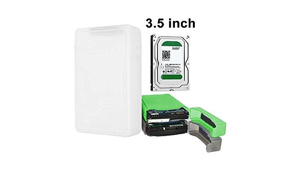 HDD Enclosure 3,5 Pulgadas Unidad de Disco Duro HDD SATA IDE plástico Caja de Almacenamiento Caja de la Caja (Naranja) LFQ (Color : Blanco): Amazon.es: Electrónica