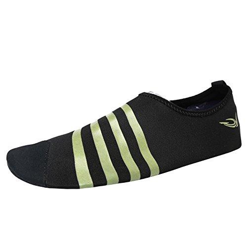 Lucdespo Zapatos de natación de los amantes de, zapatos de yoga, Fitness, amantes de los zapatos de natación Negro