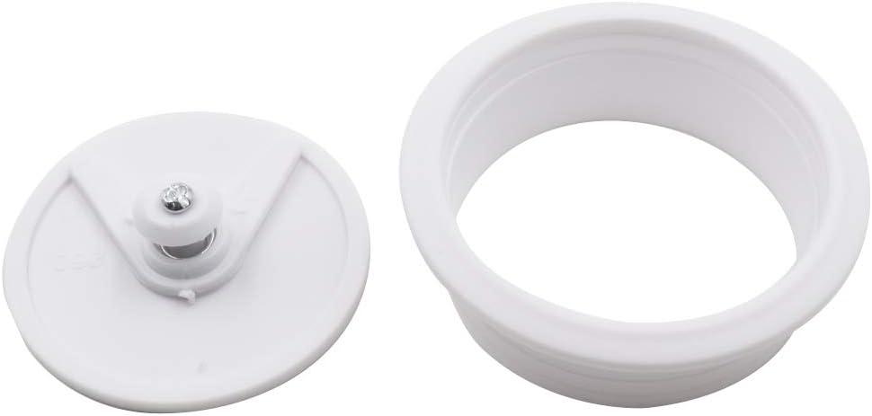 TUOREN 2 Inch Computer Desk Grommet Plastic Round Desk Grommet Hole Wire Cover Organizer White-10Pcs