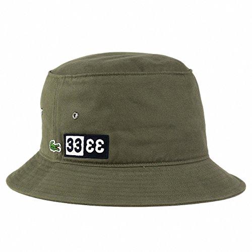帽子 lacoste ハット メンズ ラコステ 春夏 バケットハット メンズ サファリハット/カーキ