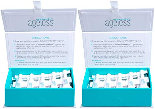 INSTANTLY AGELESS - Anti-Wrinkle Micro-Cream to Visibly Reduce Signs of Aging in Just Two Minutes (2 Boxes x 25 vials)
