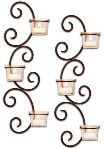 Tall Lighting Sconce Candle - ELK Lighting Classic Wall Sconce Candle Holder - Set of 2
