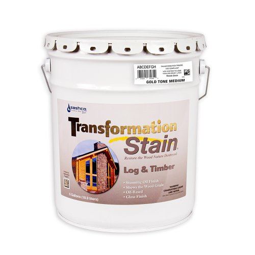 Sashco Transformation Log and Timber Stain, 5 Gallon Pail, Gold Tone Medium (Pack of 1)