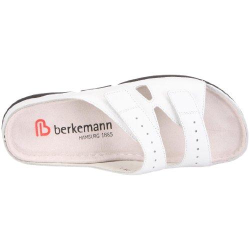 Berkemann Brisbane Jeanett 1515 - Zuecos de cuero para mujer Blanco