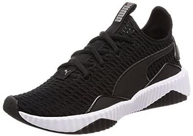PUMA Women's Defy WN's Blk-wht Shoes, Puma Black-puma White, 9 US
