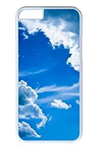 Blue clouds Custom ipod touch4 inch Case Cover Polycarbonate White