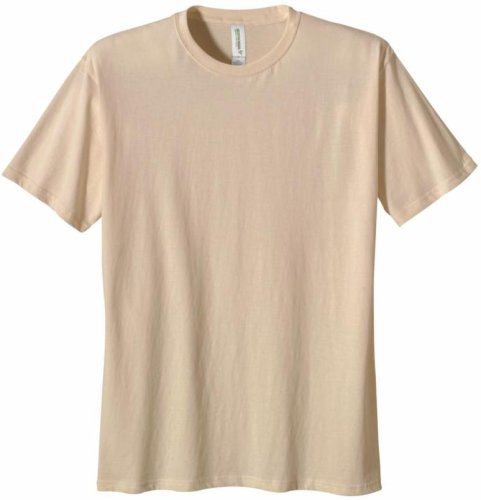 econscious Men's 100% Organic Cotton Short Sleeve Tee (Natural, Large)