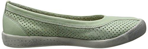 Softinos P900389, Bailarinas Mujer Verde (Pastel Verde)
