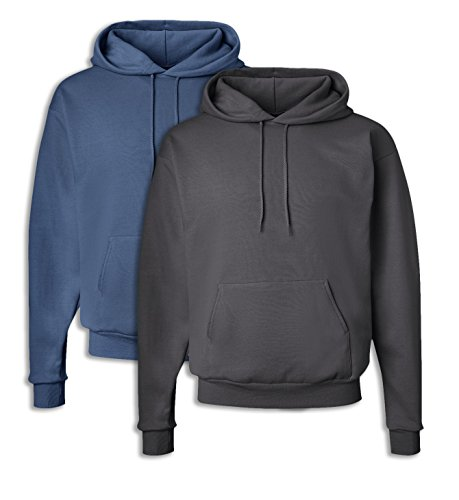mart Hooded Sweatshirt XL 1 Denim Blue + 1 Smoke Grey ()