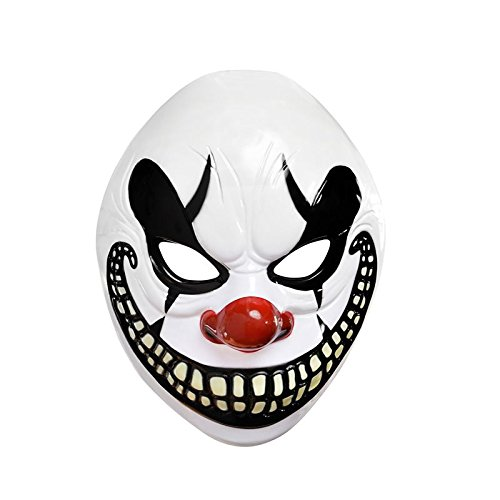 Freak Show Costumes For Halloween (Adults Halloween Freak Show Clown Mask Fancy Dress Accessory by Amscan)