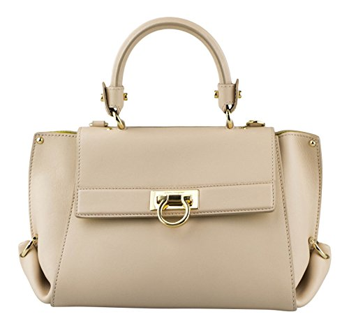 SALVATORE FERRAGAMO Beige Leather Small Sofia Handbag