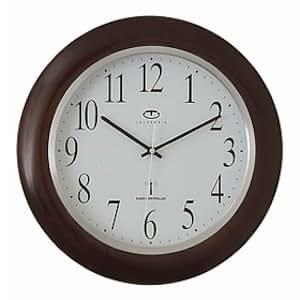 Amazon Com Telesonic Radio Controlled Wood Wall Clock