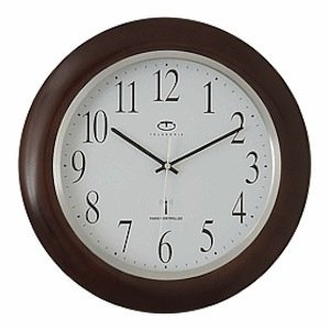 Mahogany Wood Frame Wall Clock (Radio Controlled Wood Wall)