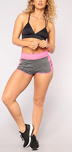 Sportive Pantaloncini Traspirante del Yoga da Donne Shorts YUPOLB Assorbimento Skinny Sudore Fitness Rosa EPA8R6wq
