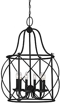 Sea Gull Lighting 5116406-839 Six 5116406-839-Six Light Hall Foyer Blacksmith Finish