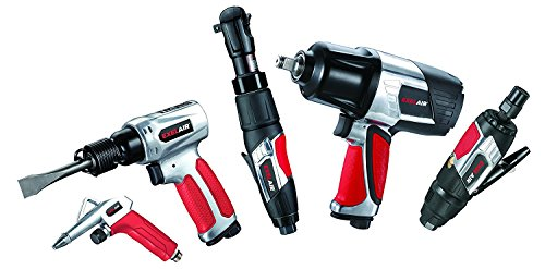 (EXELAIR by Milton EX4405KIT (44-Piece Professional Air Tool Accessory Kit) - Impact Wrench, Air Ratchet, Die Grinder, Blow Gun, Air Hammer, Dual Air Chuck, Tire Gauge, and Accessories )