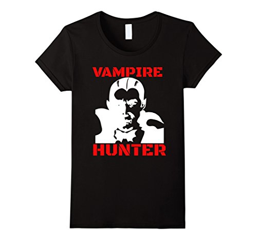Vampire Slayer Costume Female (Womens Vampire Hunter Slayer Funny T-Shirt XL Black)