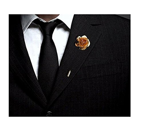 Floral Golden Flower revers Stick Men Broche pour Tuxedo Costume de corsage