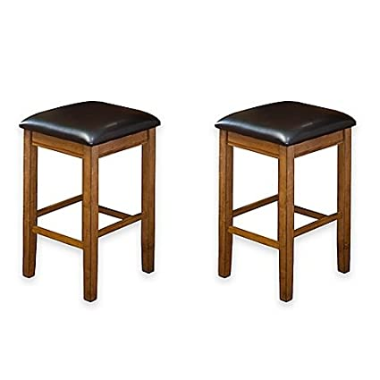 Amazon Com Intercon Furniture Siena 24 Inch Backless Bar Stools In