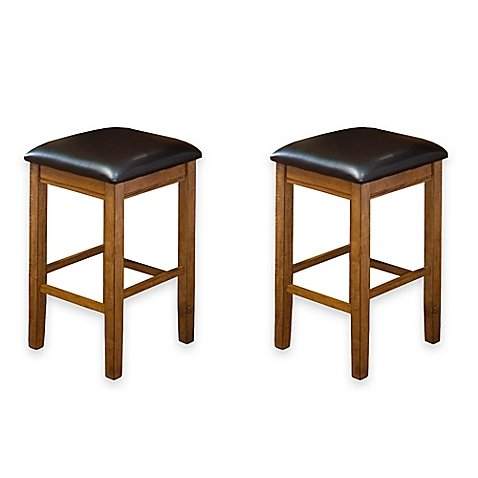 Amazoncom Intercon Furniture Siena 24 Inch Backless Bar Stools In