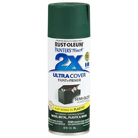 How To Remove Spray Paint From Plastic >> Rust Oleum 249853 Painter S Touch Acrylic Spray Paint For Plastic Wood Metal Semi Gloss Hunter Green 340 Grams