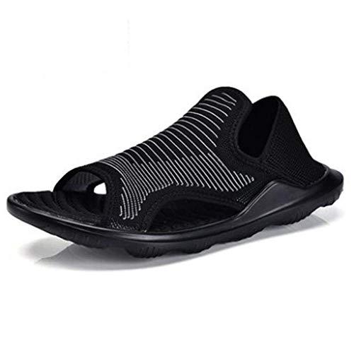 Zapatos Aire Eu El Fuweiencore 41 Negro Playa Transpirable Malla Zapatillas Ligeras De Tamaño Para Hombre color Sandalias 40 Confort dq0T8