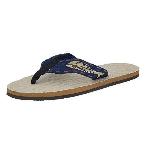 1a8fa89ca972 Galleon - Rainbow Sandals Men s Single Layer Hemp Sandal In Natural With A  Nylon Gold Fish Pattern Strap Medium US