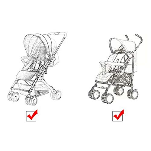 LinZhe 2 x Hook and Stroller Buggy Stroller Buggy Clips Quick Dispatch Hooks