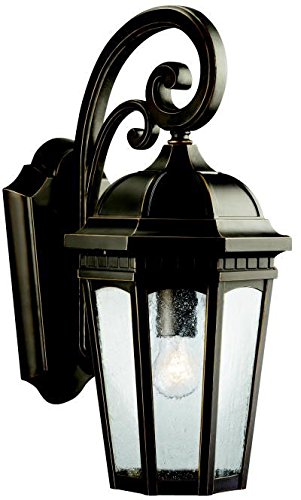 Kichler 9033RZ Courtyard Outdoor Wall 1-Light, Rubbed ()
