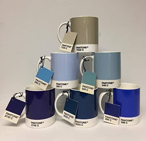 Whitbread Wilkinson Pantone Bone China Mug, Blue Tones 2009, Pack Of 6 ()
