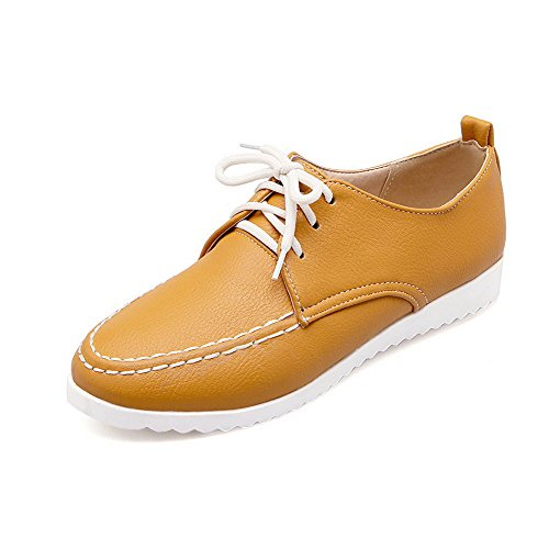 weenfashion-womens-soft-leather-round-closed-toe-low-heels-lace-up-solid-pumps-shoes-yellow-39